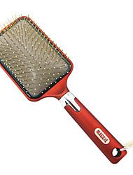 Coussin d'air anti-calvitie cheveux Paddle Brush massage (Rouge)