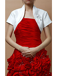 Wedding  Wraps Shrugs Short Sleeve Taffeta As Picture Shown Wedding / Party/Evening Open Front