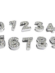 Rhinestone Decorated 10 Number Style DIY Decoration for Dogs Collar