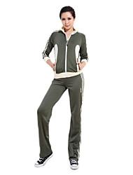 Manga 92% das mulheres chinlon longas não-estático Suits (camisola + calças)