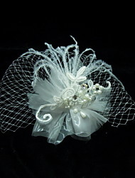 Women's Feather Headpiece - Wedding/Special Occasion Birdcage Veils