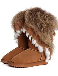 Women 'Purl Cow Leather Warm Boots Schneeschuhe