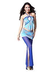 Dancewear Crystal Cotton Dance Top and Bottom for Ladies More Colors