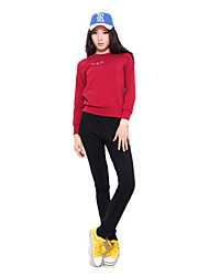 92% Mujeres mangas largas de algodón Trajes Transpirabilidad suaves (jersey + pants)