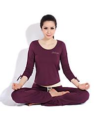 Yoga Lässige Workout Kleidung Anzüge in 2sets (Langarm Yoga T-Shirt + Yoga Pants)