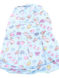 Lovely Bear and Sweety Pattern Dress for Dogs(Blue,XS-M)