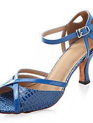 salão de festas do salto alto peep toe couro sapatos de dança de salão sapatos latin superior para as mulheres