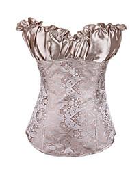 Атласные платья без бретелек жаккарда с боковой молнией Shapewear Закрытие Корсеты