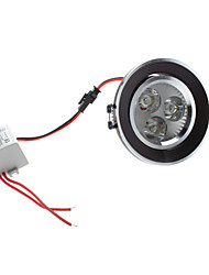 3W 300-330LM 5800-6300K Белый свет природных черной крышкой Светодиодные потолочные лампы (85-265В)