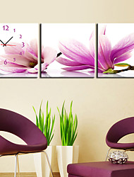 Modern Scenic Wall Clock in Canvas 3pcs K0021