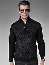 Men's Long Sleeve Loose Thick Knit Sweater