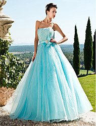 Prom / Formal Evening / Quinceanera / Sweet 16 Dress - Pool Plus Sizes / Petite Ball Gown / A-line / Princess Strapless Floor-length Tulle