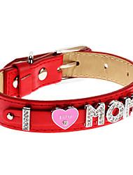 réglable strass amour maman collier de style pour les chiens (couleur assortie, le cou: 15-25cm/5.9-9.8inch)