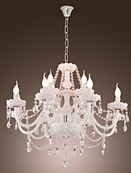 Chandelier ,  Modern/Contemporary Electroplated Feature for Candle Style Glass Living Room Dining Room Kitchen
