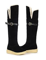Damen Multi-Color Suede Gummi Anti-Rutsch-Waterproof Warming Knee-High Flach Snow Boots (verschiedene Farben)