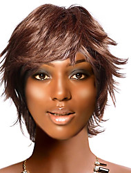Capless Short High Quality Synthetic Nature Look Coffee Straight Hair Wig