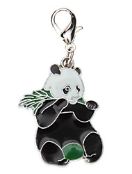 Gatos / Cães Marcadores Panda Preto Metal