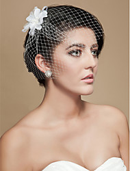 Wedding Veil One-tier Blusher Veils Birdcage Veils Cut Edge Tulle