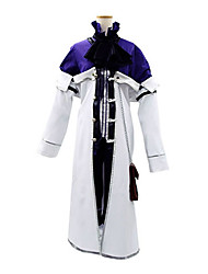 Inspired by Pandora Hearts Xarxes Break Anime Cosplay Costumes Cosplay Suits Patchwork White / Purple Long SleeveCoat / Shirt / Shorts /