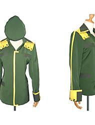 Вдохновлен Харухи Судзумии Itsuki Koizumi Аниме Косплэй костюмы Косплей вершины / дна Пэчворк Зеленый Длинные Пальто / Шапки