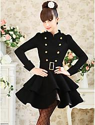 vestido das mulheres oscilante duplo peito (corte slim)