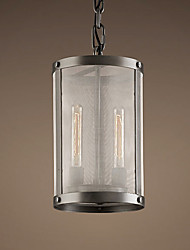 60W E27 2-light Pendent Light with Transparent Shade