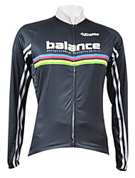 KOOPLUS® Cycling Jersey Men's Long Sleeve Bike Breathable / Quick Dry / Front Zipper Jersey / Tops 100% Polyester Fall/Autumn / Winter