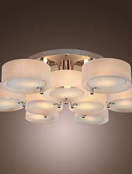 Lámpara Chandelier Acrílica Cromada con 9 Bombillas - ALAMOGORDO