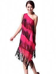 Performance Dancewear chinlon mit Quasten Latin Dance Dress