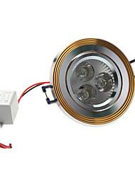 3W 270-300LM 5800-6300K Белый свет природного золота Обложка светодиодные потолочные лампы (85-265В)