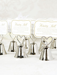 "Place Cards and Holders Heart Topped ""Kissing Bell"" Place Card & Photo Holders (set of 4)"