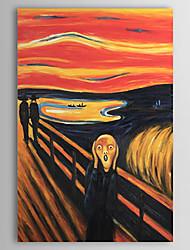Ручная роспись Известные картины / Абстрактные портреты 1 панель Холст Hang-роспись маслом For Украшение дома