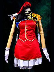 Inspirado por Macross Frontier Sheryl Nome anime Cosplay Costumes Ternos de Cosplay Patchwork Vermelho Top
