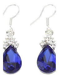Blue Water-drop Shape Earrings