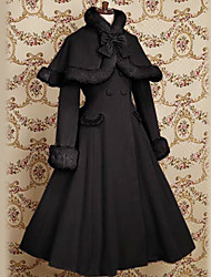 Long Sleeve Velvet Princess Classic Lolita Coat with Bow