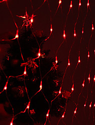 Festival Decoration 120-LED 8-Mode Red Light Net Lamps for Party Garden Fence (220V)