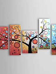 ручная роспись абстрактная картина маслом с растянутыми кадров - набор из 5