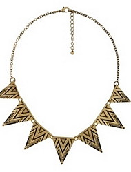 Women's Triangle Floral Vintage Necklace