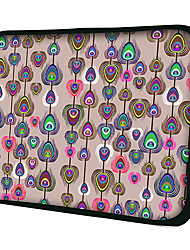 Pluma del pavo real Laptop Sleeve Funda para MacBook Air Pro / HP / Dell / Sony / Toshiba / Asus / Acer