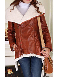 Long Sleeve Turndown Collar Casual/Evening PU Jacket(More Colors)