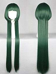 Cosplay Wigs Reborn! Yuni Green Long Anime Cosplay Wigs 100 CM Heat Resistant Fiber Female