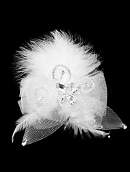 Women's Feather/Tulle Headpiece - Special Occasion Fascinators
