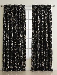 (deux panneaux) noble brillante salle floral assombrissement rideau