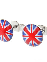 The Union Jack Stainless Steel Earrings