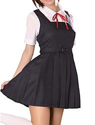 Cute Girl Poliéster Preto Uniforme Escolar (2 Unidades)