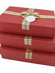 Classic Red Geschenk-Box mit Bogen