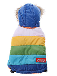 Dog Hoodie Blue Winter Stripe
