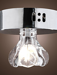 20W Modern Flush Mount Light with Crystal Shade