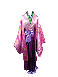 Inspired by Nurarihyon's Grandson Zen Anime Cosplay Costumes Cosplay Suits / Kimono Patchwork Pink Long SleeveCoat / Kimono Coat / Pants