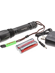 UniqueFire T02 5-Mode do Cree T6 XM-L LED Set lanterna recarregável (10w, 1000LM, 1x18650)